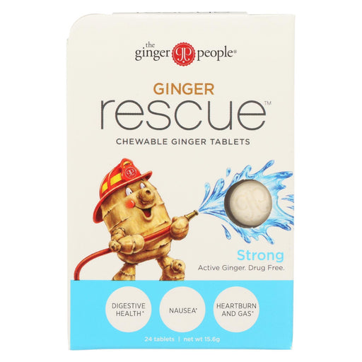 Ginger People Ginger Rescue - Strong - 24 Chewable Tablets - Case Of 10-Eco-Friendly Home & Grocery-Ginger People-EpicWorldStore.com