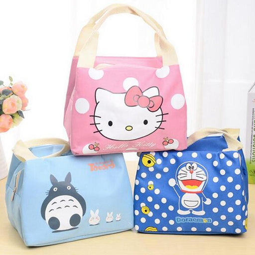 Girl Portable Cartoon Cute Hello Kitty Lunch Bag Insulated Cold Canvas Picnic Totes Carry Case For-Functional Bags-Shop3868055 Store-1-EpicWorldStore.com
