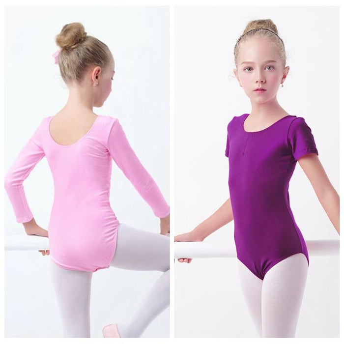 a2736e04f Girls Ballet Dance Wear Long Sleeve Cotton Dance Leotards Toddler ...