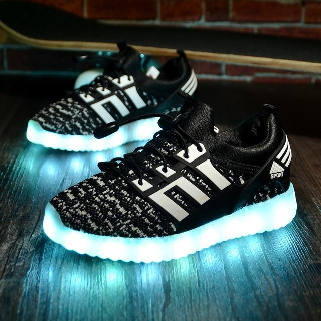 Glowing Children Casual Shoes With Usb Rechargeable Kids Led Light Up Shoes  Luminous Sneakers For- f5f3f29f3