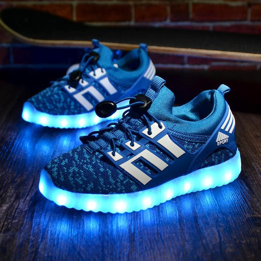 Glowing Children Casual Shoes With Usb Rechargeable Kids Led Light Up Shoes Luminous Sneakers For-Children's Shoes-vayage Store-1832 Black-1-EpicWorldStore.com