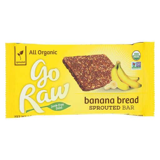Go Raw - Organic Sprouted Bar - Banana Bread - Case Of 30 - 1.2 Oz.-Eco-Friendly Home & Grocery-Go Raw-EpicWorldStore.com