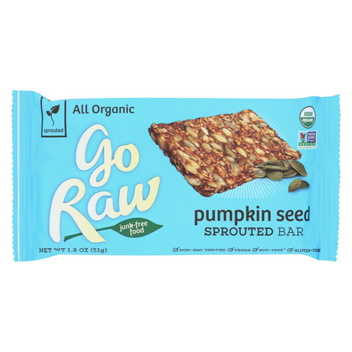 Go Raw - Organic Sprouted Bar - Pumpkin Seed - Case Of 20 - 1.8 Oz.-Eco-Friendly Home & Grocery-Go Raw-EpicWorldStore.com
