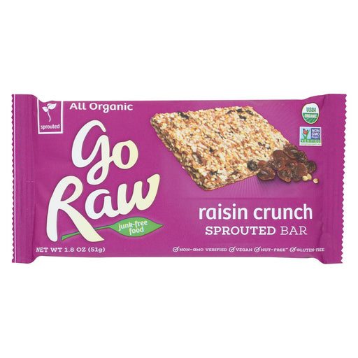 Go Raw - Organic Sprouted Bar - Raisin Crunch - Case Of 20 - 1.8 Oz.-Eco-Friendly Home & Grocery-Go Raw-EpicWorldStore.com