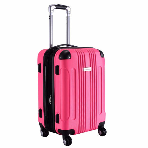 "Goplus 20"" Abs Luggage Bag Rolling Trolley Travel Suitcase Portable Carry On Luggage Waterproof-Goplus-BG50110BK-EpicWorldStore.com"