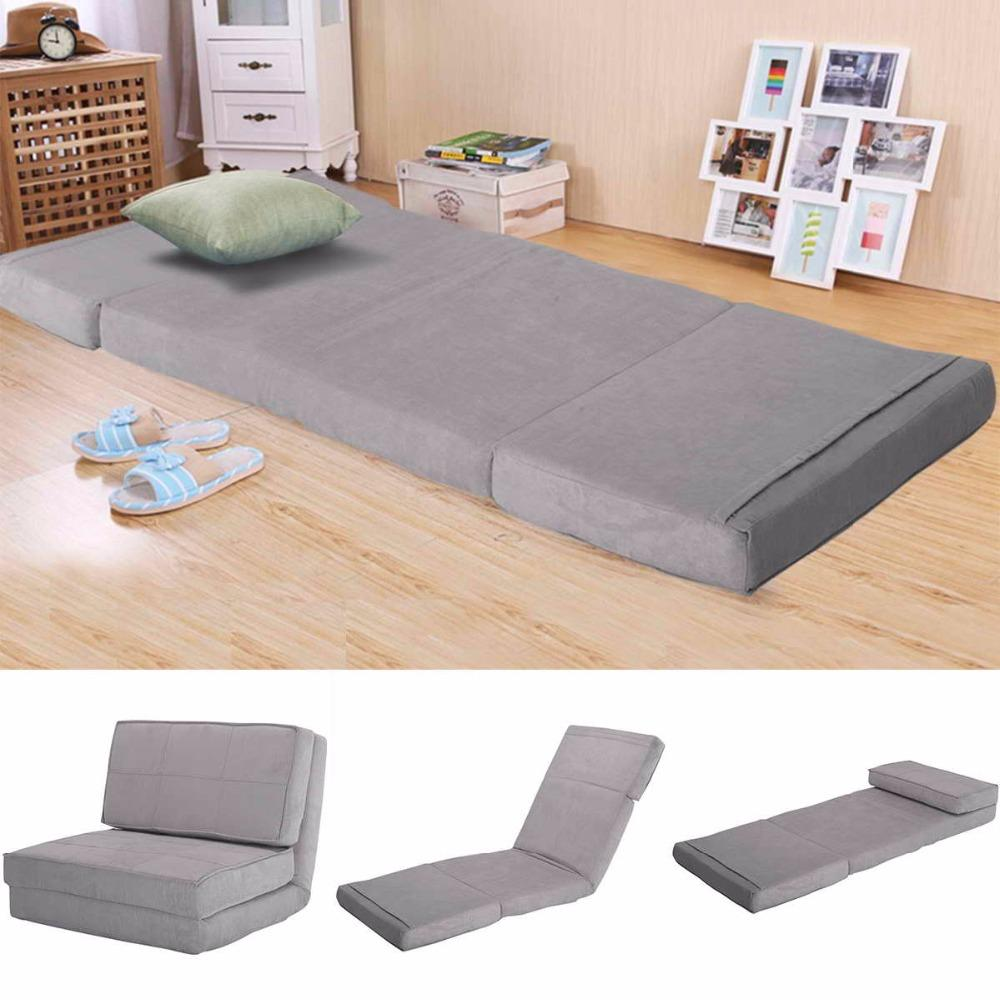 Stupendous Goplus Suede Fold Down Chair Flip Out Lounger Convertible Sleeper Bed Couch Game Dorm Guest Sofa Creativecarmelina Interior Chair Design Creativecarmelinacom