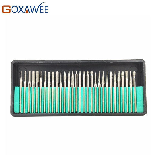 Goxawee 30Pcs 3.0Mm Shank Diamond Burs Set With Box For Dremel Electric Grinder Power Tool-Abrasive Tools-GOXWEE Tools Store-EpicWorldStore.com