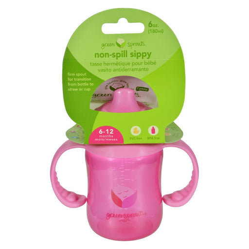 Green Sprouts Sippy Cup - Non Spill Pink - 1 Ct-Eco-Friendly Home & Grocery-Green Sprouts-EpicWorldStore.com