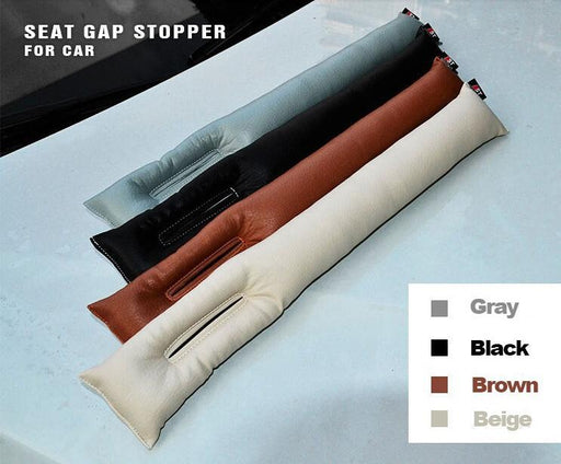 Grey Black Beige Brown Car Seat Cushion Crevice Gap Stopper Pu Leather Leakproof Protector Car-Interior Accessories-KWK AUTO LIFE-Black-EpicWorldStore.com