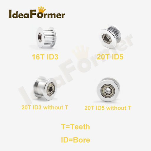 Gt2 Idler Timing Pulley 16 20 Teeth Passive Synchronous Wheel Bore 3Mm 5Mm Aluminum Timing Pulley-Office Electronics-IdeaFormer Store-16T ID3 OD13 W6 No T-EpicWorldStore.com