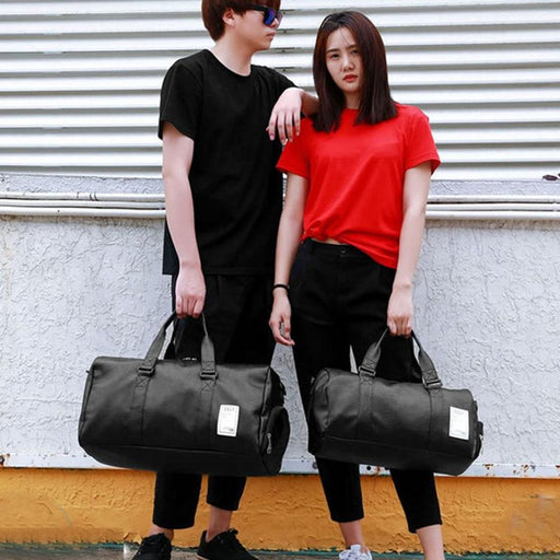 Gym Bag Leather Sports Bags Big Mentraining Tas For Shoes Lady Fitness Yoga Travel Luggage-Gym Bags-Let's Travel Store-black S-EpicWorldStore.com