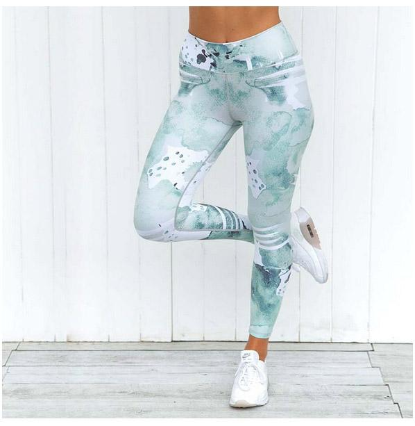 963d0aa64c Gym Ropa Yoga Pants Printing Sports Leggings Fitness Running Tights Women  Breathable Quick Dry-moaoliao