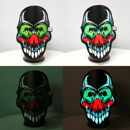 Halloween Scary Cosplay Masks Fancy Cosplay Costume Led Masks Battery Powered Adult Full Face Mask-LubanNO.7 Store-EpicWorldStore.com