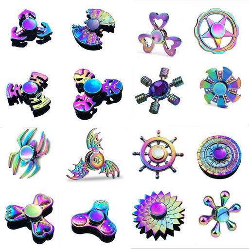 Hand Spinner Edc Fidget Spinner Metal Rainbow Spiner Anti-Anxiety Toy For Spinners Focus Relieves-Novelty & Gag Toys-Keep childhood Store-White-EpicWorldStore.com