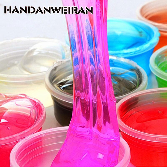 Handanweiran 1Piece / Lots Can Be Non-Toxic Blowing Bubbles Crystal Mud  Clay Can Draw Slime Funny