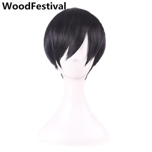 Handsome Man Wig Short Brown Male Wig Black Short Straight Hair Men Wigs  Synthetic Hair Heat ca26e2f4a12b