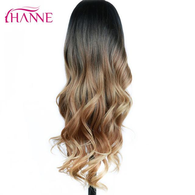 Hanne Long Ombre Brown Blonde High Density Heat Resistant Synthetic