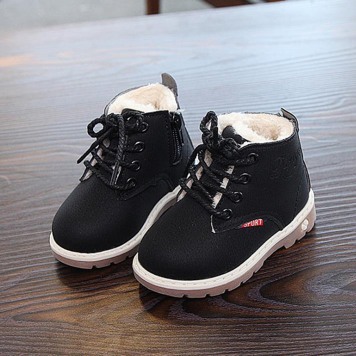 Kids Children/'s Baby Winter Shoes Girl Boy Snow Boots Comfort Thick
