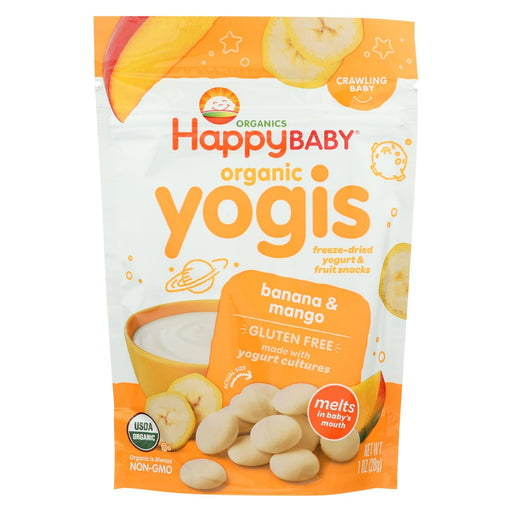 Happy Baby Happymelts Organic Yogurt Snacks For Babies And Toddlers Banana Mango - 1 Oz - Case Of 8-Eco-Friendly Home & Grocery-Happy Baby-EpicWorldStore.com
