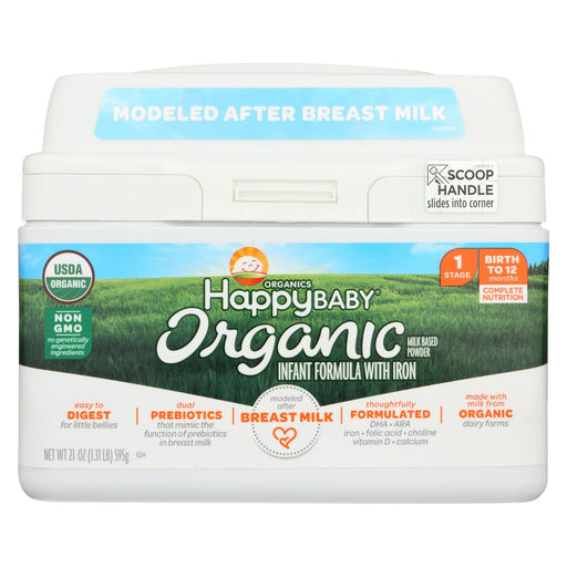 Happy Baby Organic Infant Milk Based Formula Powder - With Iron - Case Of 4 - 21 Oz-Eco-Friendly Home & Grocery-Happy Baby-EpicWorldStore.com