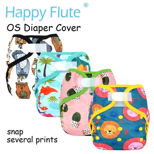 Happy Flute Os Baby Cloth Diaper Cover With Or Without Bamboo Insert,Waterproof Breathable S M& L-Baby Care-Greenbaby Store-EF07-diaper cover only-EpicWorldStore.com