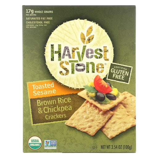 Harvest Stone Harvest Stone Organic Crackers - Rice And Chickpea - Case Of 6 - 3.54 Oz.-Eco-Friendly Home & Grocery-Harvest Stone-EpicWorldStore.com