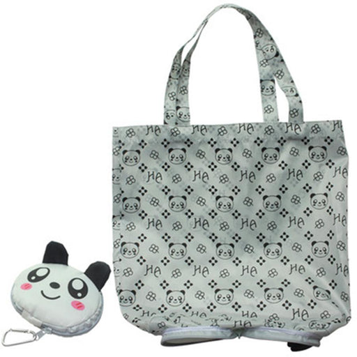 Hasp Cartoon Anime Folding Shopping Tote Reusable Eco Bag Panda Frog Pig Bear Waterproof Shopping-Functional Bags-Lovely Dreaming Store-brown bear-EpicWorldStore.com
