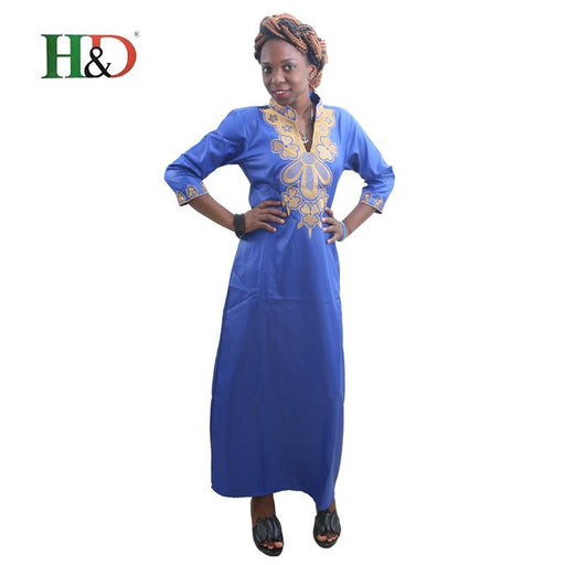 H&D All African Traditional Dress For Women Printing Robe Africaine Dashiki African Clothing Bazin-Traditional & Cultural Wear-H&D rich Bazin store-Black-M-EpicWorldStore.com