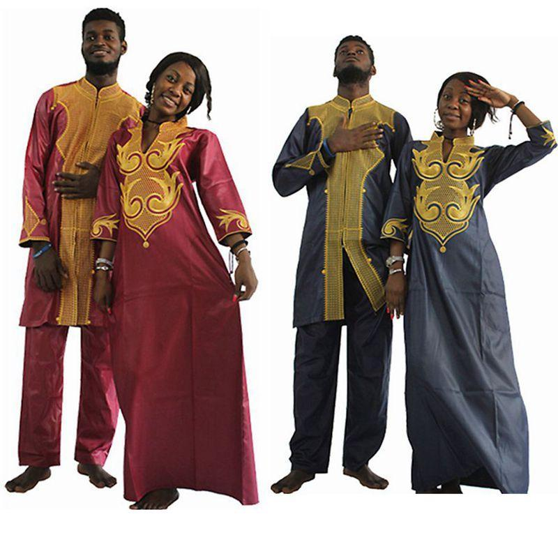 db6362568220ee H D Dashiki African Couple Dress Clothing For Men And Women Friends Get  Married Bazin Traditional-