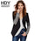 Hdy Haoduoyi Slim Women Pu Patchwork Black Silver Sequins Jackets Full Sleeve Winter Coat-Jackets & Coats-NEW FASHIONS-S-EpicWorldStore.com