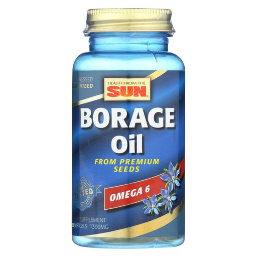 Health From The Sun Borage Oil 300 - 1300 Mg - 30 Softgels-Eco-Friendly Home & Grocery-Health From The Sun-EpicWorldStore.com