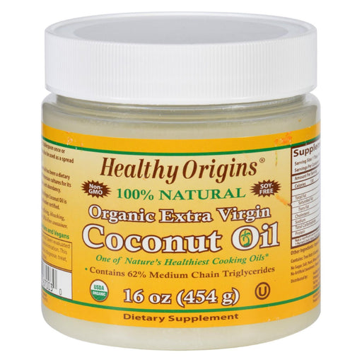 Healthy Origins Coconut Oil - Organic - Extra Virgin - 16 Oz-Eco-Friendly Home & Grocery-Healthy Origins-EpicWorldStore.com