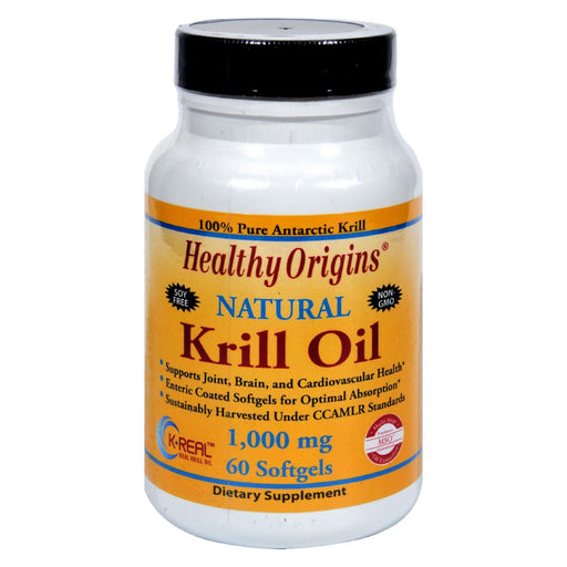 Healthy Origins Krill Oil - 1000 Mg - 60 Softgels-Eco-Friendly Home & Grocery-Healthy Origins-EpicWorldStore.com