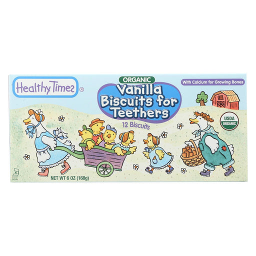 Healthy Times Organic Biscuits For Teethers - Vanilla - Case Of 12 - 6 Oz.-Eco-Friendly Home & Grocery-Healthy Times-EpicWorldStore.com