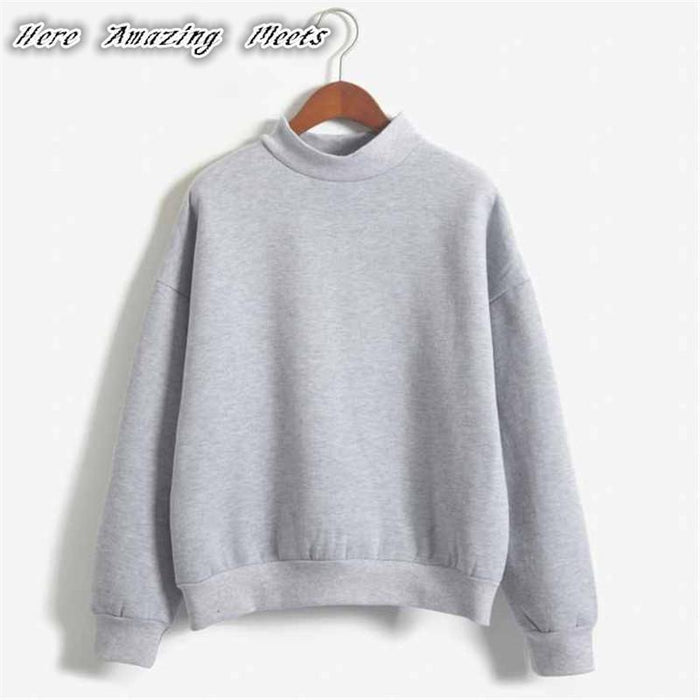 Here Amazing Meets Folding Hot Sell Women Hoodies Casual Hoodies Coat Outfit Tops Sombrero-Hoodies & Sweatshirts-Here Amazing Meets-Black-S-EpicWorldStore.com