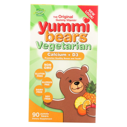 Hero Nutritional Products Yummi Bears Vegetarian Calcium With Vitamin D - Fruit Flavors - 90 Ct-Eco-Friendly Home & Grocery-Hero Nutritional Products-EpicWorldStore.com