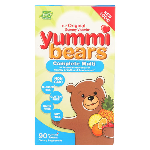 Hero Nutritionals Yummi Bears Multi-Vitamin And Mineral Fruit - 90 Gummies-Eco-Friendly Home & Grocery-Hero Nutritional Products-EpicWorldStore.com