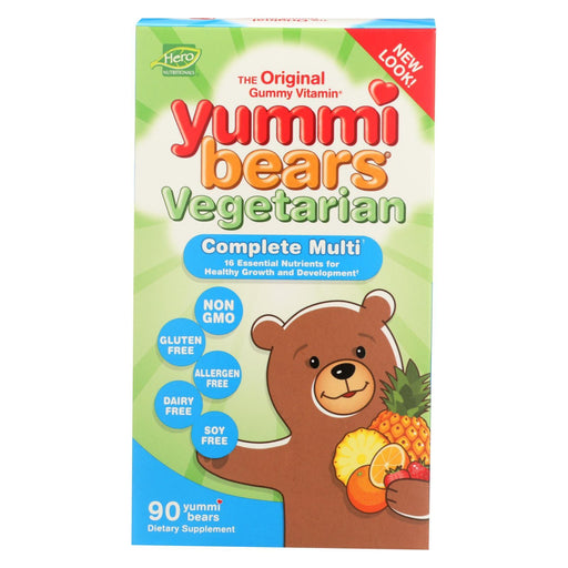 Hero Nutritionals Yummi Bears Multi-Vitamin And Mineral Vegetarian Fruit - 90 Gummy Bears-Eco-Friendly Home & Grocery-Hero Nutritional Products-EpicWorldStore.com