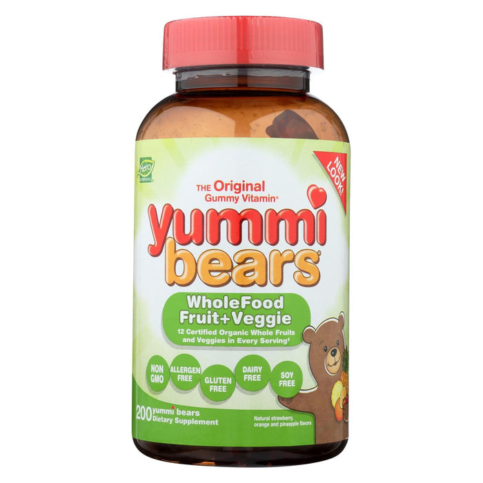 Hero Nutritionals Yummi Bears Whole Food Supplement For Kids - 200 Chewables-Eco-Friendly Home & Grocery-Hero Nutritional Products-EpicWorldStore.com