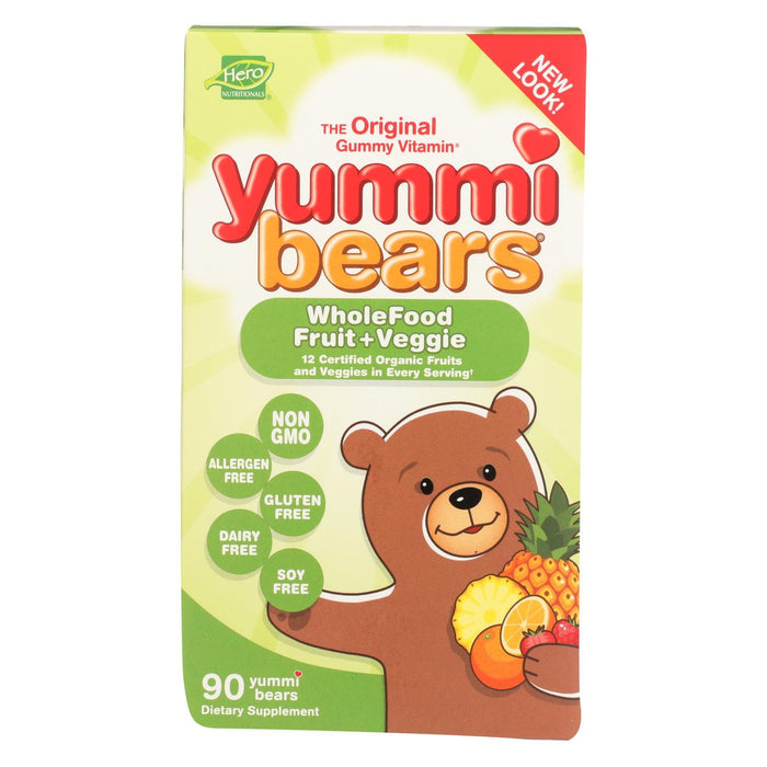 Hero Nutritionals Yummi Bears Whole Food Supplement For Kids - 90 Gummies-Eco-Friendly Home & Grocery-Hero Nutritional Products-EpicWorldStore.com