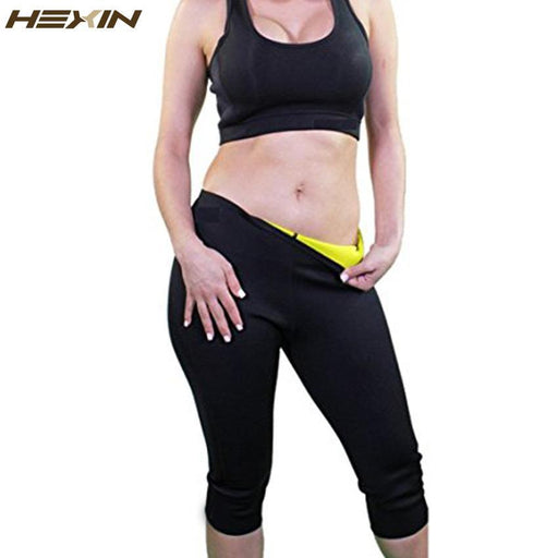 2cfc06f0af Hexin Womens Slimming Pants Hot Thermo Neoprene Sweat Sauna Body Shapers  Fitness Stretch Control-Shapers