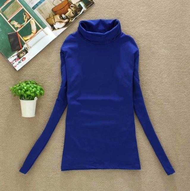 High Elastic Quality Autumn Winter Sweater Women Wool Turtleneck Pullovers Long-Sweaters-Fall In Love-W00869 bao lan-EpicWorldStore.com