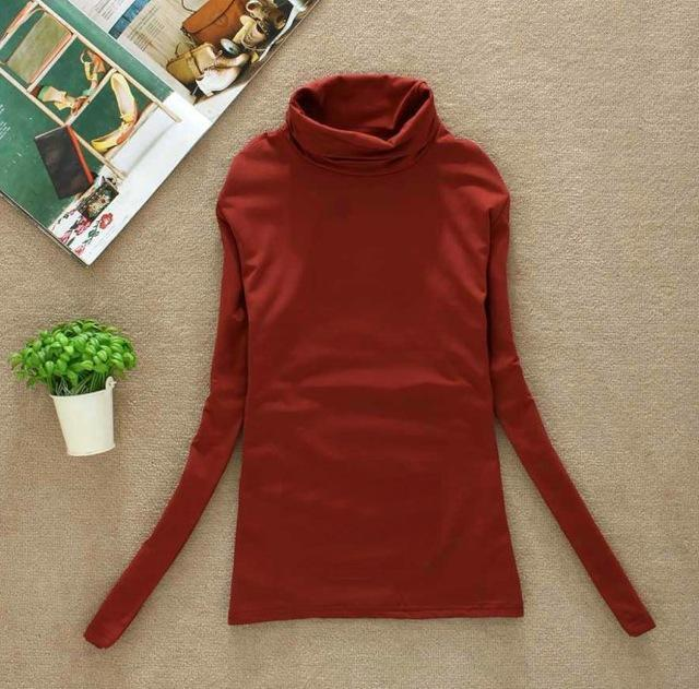 High Elastic Quality Autumn Winter Sweater Women Wool Turtleneck Pullovers Long-Sweaters-Fall In Love-W00869 xiu hong-EpicWorldStore.com