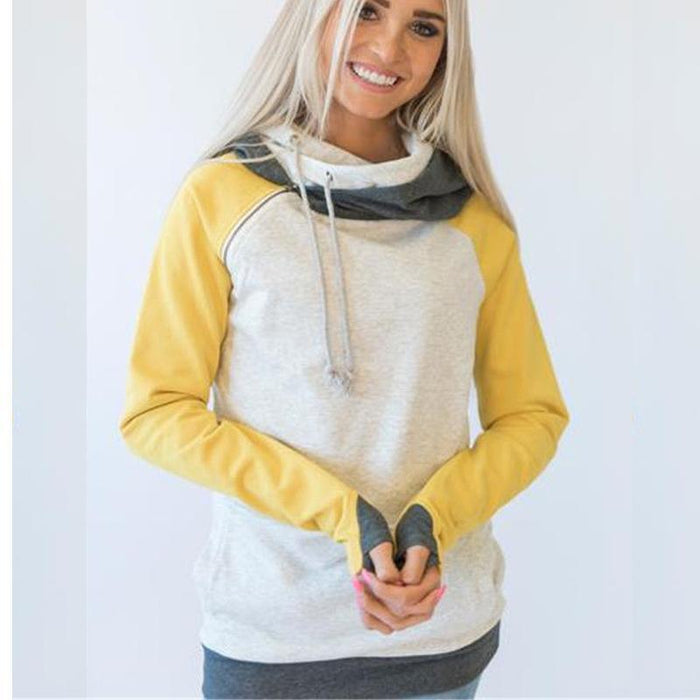 High Quality 3Xl Autumn Winter Warm Hoodies Sweatshirts Women Pullover Hoodie Female Patchwork-Hoodies & Sweatshirts-Lispstudio Store-Black-S-EpicWorldStore.com
