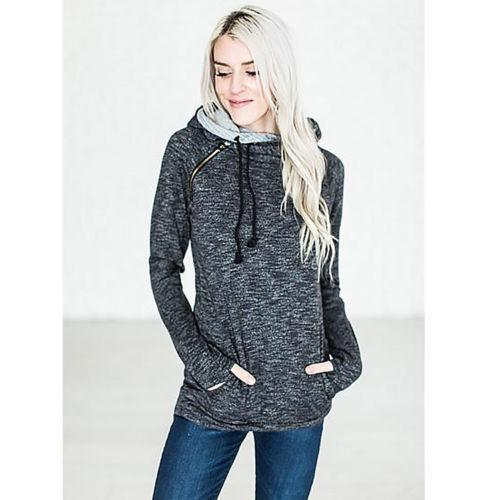 High Quality 3Xl Autumn Winter Warm Hoodies Sweatshirts Women Pullover Hoodie Female Patchwork-Hoodies & Sweatshirts-Lispstudio Store-Dark Grey-S-EpicWorldStore.com