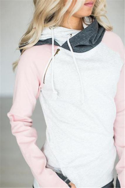 High Quality 3Xl Autumn Winter Warm Hoodies Sweatshirts Women Pullover Hoodie Female Patchwork-Hoodies & Sweatshirts-Lispstudio Store-Pink-S-EpicWorldStore.com