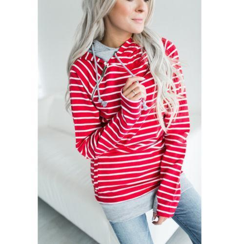 High Quality 3Xl Autumn Winter Warm Hoodies Sweatshirts Women Pullover Hoodie Female Patchwork-Hoodies & Sweatshirts-Lispstudio Store-Red-S-EpicWorldStore.com