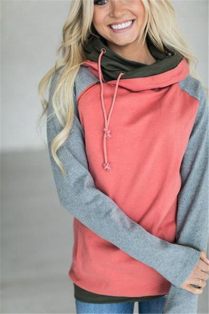 High Quality 3Xl Autumn Winter Warm Hoodies Sweatshirts Women Pullover Hoodie Female Patchwork-Hoodies & Sweatshirts-Lispstudio Store-Rhodo-S-EpicWorldStore.com