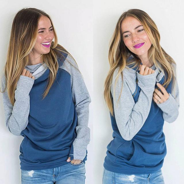 High Quality 3Xl Autumn Winter Warm Hoodies Sweatshirts Women Pullover Hoodie Female Patchwork-Hoodies & Sweatshirts-Lispstudio Store-Sky Blue-S-EpicWorldStore.com