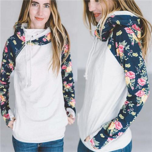 High Quality 3Xl Autumn Winter Warm Hoodies Sweatshirts Women Pullover Hoodie Female Patchwork-Hoodies & Sweatshirts-Lispstudio Store-sleeve flower style-S-EpicWorldStore.com